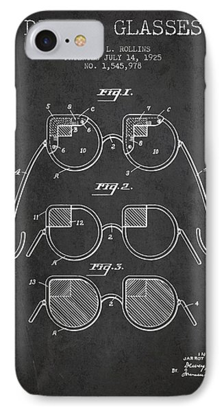 Dimmer Glasses Patent From 1925 - Dark IPhone Case