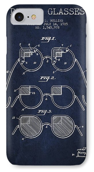 Dimmer Glasses Patent From 1925 - Navy Blue IPhone Case