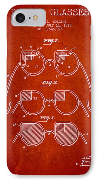 Dimmer Glasses Patent From 1925 - Red IPhone Case