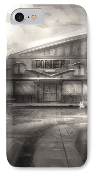 Diner IPhone Case by Alex Ruiz