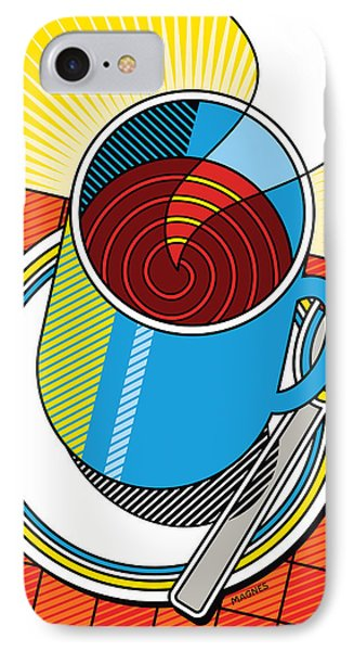 IPhone Case featuring the digital art Diner Coffee by Ron Magnes