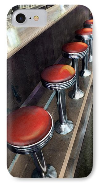 Diner Stools IPhone Case by Cindy McIntyre