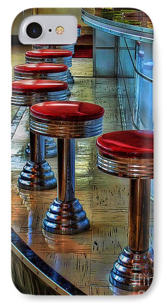 Diner Stools IPhone Case by Clare VanderVeen