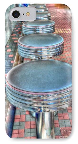 Diner Stools Phone Case by Kathleen Struckle