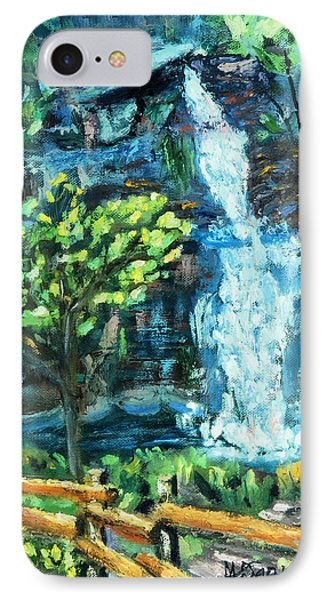 IPhone Case featuring the painting Dingman Falls Eastern Pennsylvania by Michael Daniels