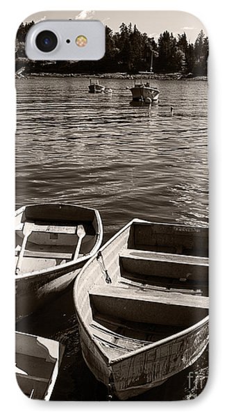 Dingy Docked In Seal Cove Maine IPhone Case by Edward Fielding