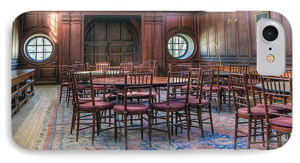 IPhone Case featuring the photograph Dining Hall Wren Building by Jerry Gammon