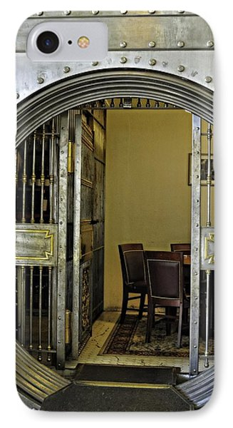 Dining In The Vault At Metals Bank IPhone Case by Image Takers Photography LLC - Laura Morgan