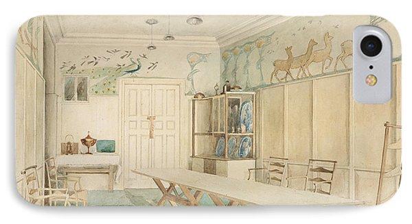 Dining Room At 37 Cheyne Walk, Chelsea IPhone Case by Charles Robert Ashbee