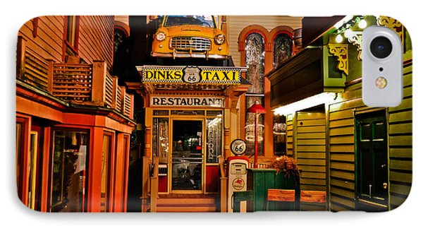 Dinks Route 66 Taxi Restaurant IPhone Case by Gary Keesler