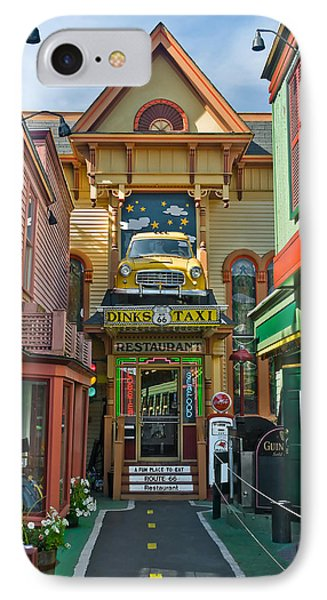 Dinks Taxi In Bar Harbor IPhone Case