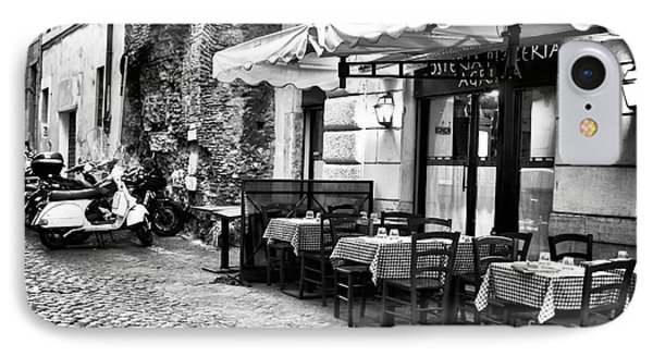 Dinner Scene In Rome Phone Case by John Rizzuto