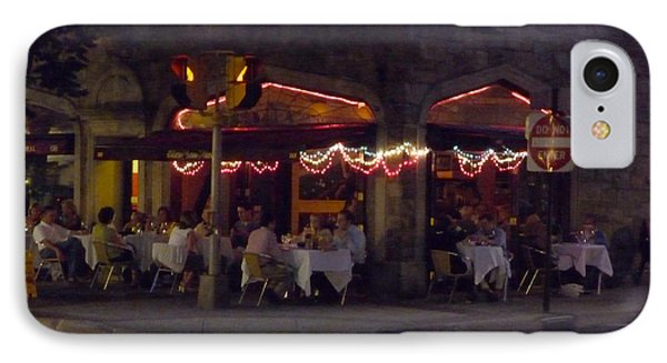 IPhone Case featuring the photograph Dinning In The Dark by Margie Avellino