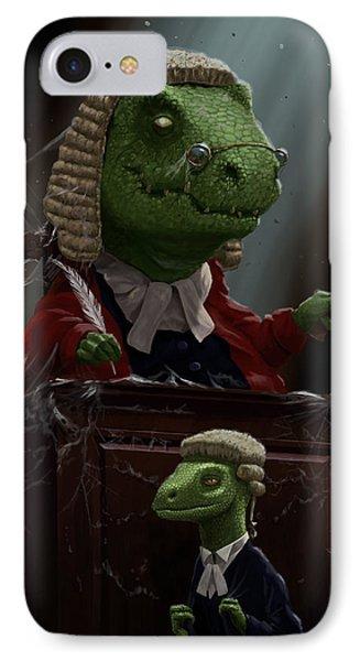 Dinosaur Judge In Uk Court Of Law IPhone Case