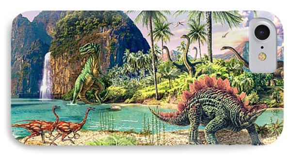 Dinosaur Volcanos Phone Case by Steve Read