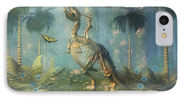 Dinosaur Warrior  Phone Case by Carol and Mike Werner