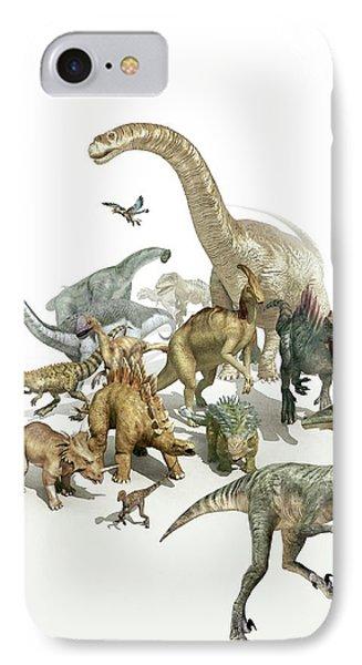 Dinosaurs IPhone Case by Mikkel Juul Jensen