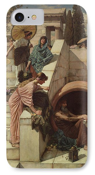 Diogenes Phone Case by John William Waterhouse