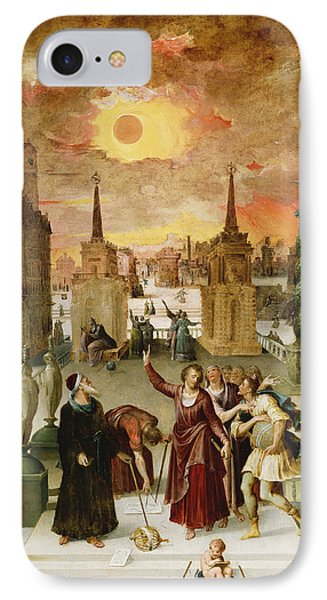 Dionysius The Areopagite Converting The Pagan Philosophers, 1570s Oil On Panel IPhone Case by Antoine Caron