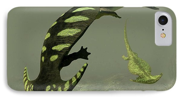 Diplocaulus Prehistoric Amphibian IPhone Case by Walter Myers