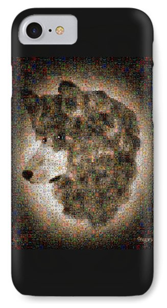 IPhone Case featuring the painting Dire Wolf Mosaic by Paula Ayers