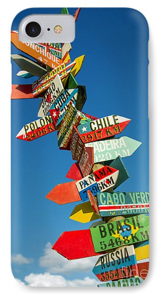 Directions Signs IPhone Case by Carlos Caetano