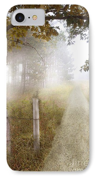 Dirt Road In Fog IPhone Case
