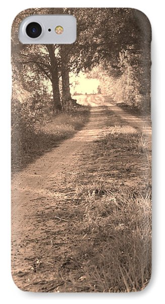 Dirt Road In Moultrie Georgia IPhone Case by Cleaster Cotton