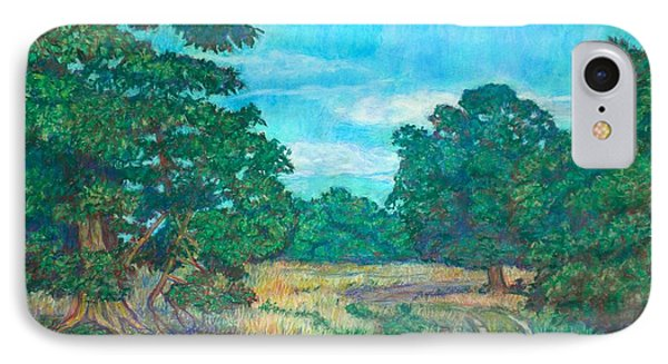 IPhone Case featuring the painting Dirt Road Near Rock Castle Gorge by Kendall Kessler