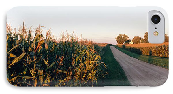 Dirt Road Passing Through Fields IPhone Case