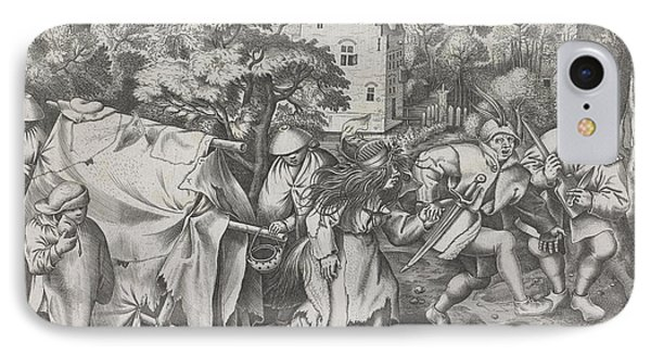 Dirty Bride Or Wedding Of Mopsus And Nisa IPhone Case by Pieter Van Der Heyden And Hieronymus Cock