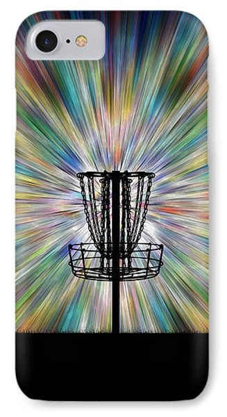 Disc Golf Basket Silhouette IPhone Case by Phil Perkins