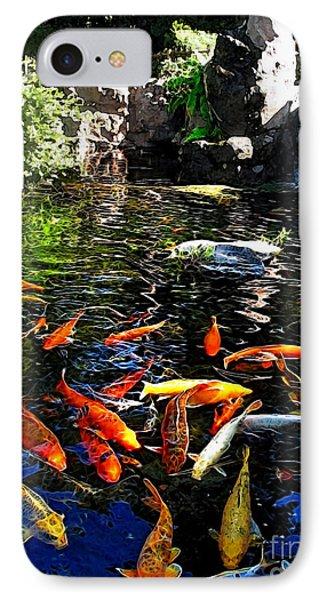Disney Epcot Japanese Koi Pond IPhone Case by Joan  Minchak
