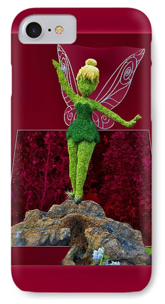 Disney Floral Tinker Bell 01 Phone Case by Thomas Woolworth