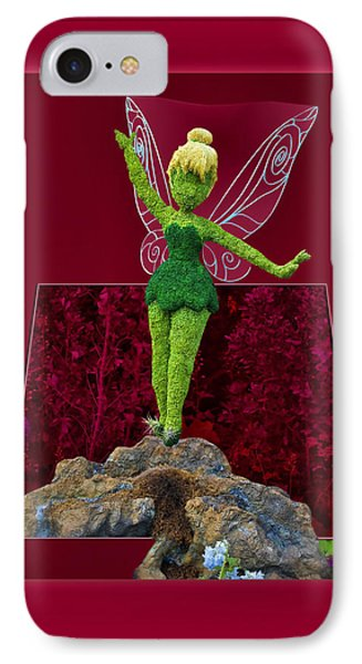 Disney Floral Tinker Bell 02 Phone Case by Thomas Woolworth