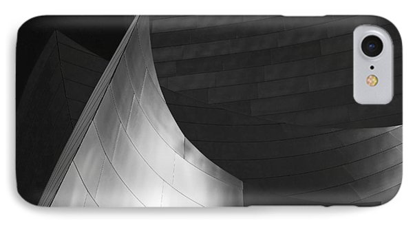 Disney Hall Abstract Black And White Phone Case by Rona Black