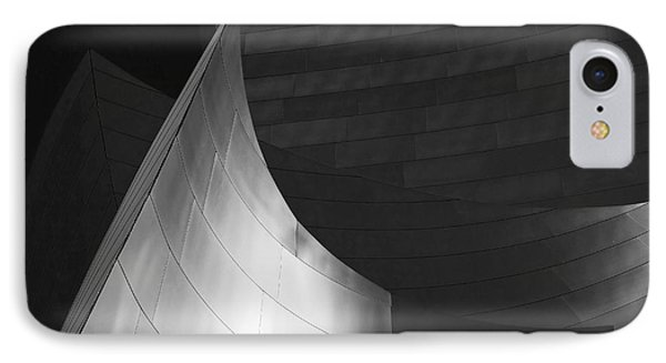 Disney Hall Abstract Black And White IPhone Case by Rona Black
