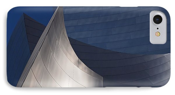 Disney Hall Abstract Phone Case by Rona Black