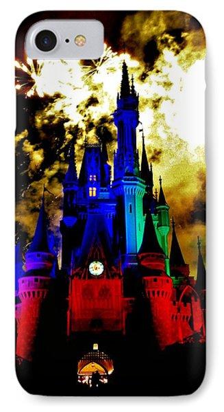 Disney Night Fireworks IPhone Case