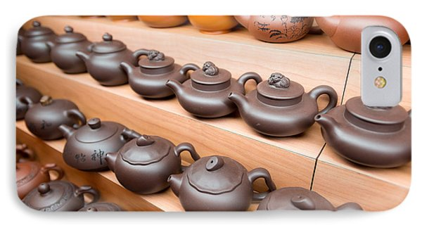 Display Of Chinese Teapots, Chinatown IPhone Case by Panoramic Images
