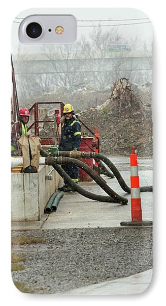 Disposal Of Fracking Waste IPhone Case by Jim West