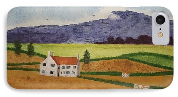 IPhone Case featuring the painting Distant Hills by John Williams