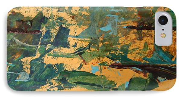 IPhone Case featuring the painting Distant Lands Upclose by Nancy Kane Chapman