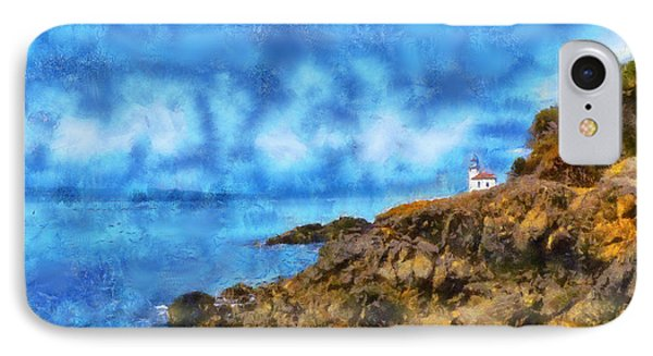 IPhone Case featuring the digital art Distant Lime Kiln by Kaylee Mason