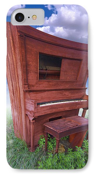 Distorted Upright Piano Phone Case by Mike McGlothlen