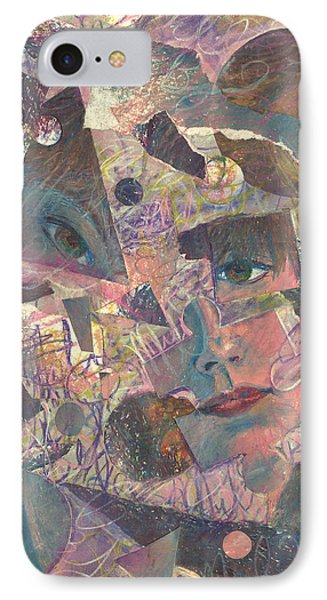 Distraction A Self Portrait IPhone Case by Melinda Dare Benfield