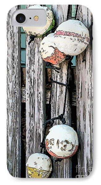 Distressed Buoys On Fencing Key West - Digital IPhone Case