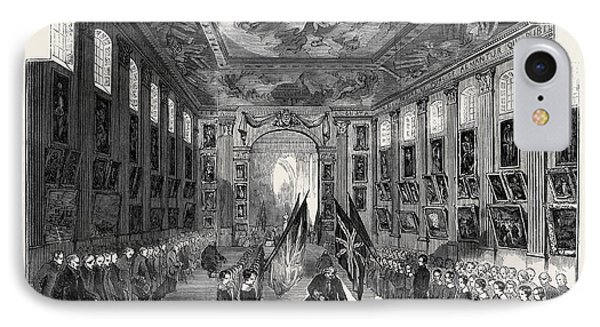 Distribution Of The Nelson Medals, In The Painted Hall IPhone Case by English School
