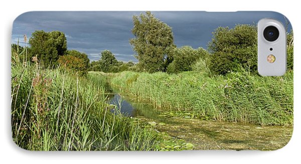 Ditch And Reedbeds IPhone Case by Bob Gibbons
