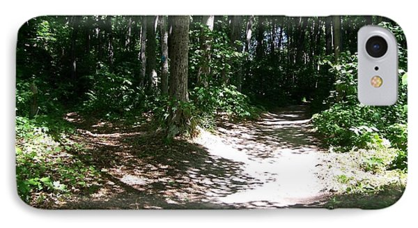 Diverging Path In The Woods IPhone Case